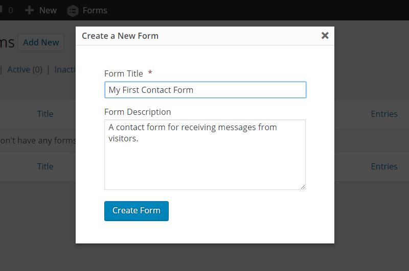 ایجاد فرم جدید با گراویتی فرم
